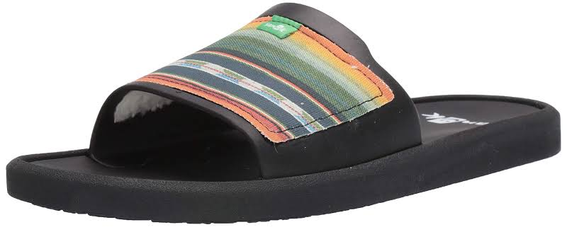 Sanuk Beachwalker Slide TX Sandals Black;Multi- Mens
