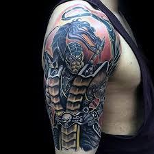 Tattoo Designs Half Sleeve Ideas 70 Mortal Kombat Tattoos For Men Gaming Ink Design Ideas