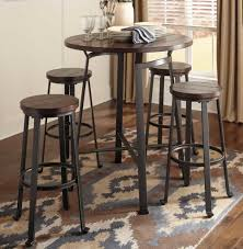 Home Design Store Chicago Round Metal U0026 Wood Pub Set Chicago Furniture Stores Bar Table And