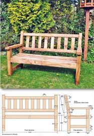 Wooden Bench Plans To Build by Best 25 Garden Bench Plans Ideas On Pinterest Wooden Bench