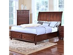 new classic spring creek queen low profile storage bed with sleigh
