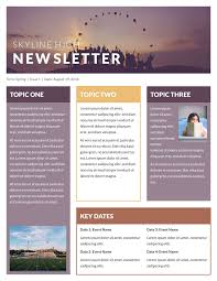 Good News Letter Sample Business by Free Newsletter Templates U0026 Examples 10 Free Templates