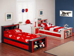 adorable boysu0027 bedroom design with builtin desk bookcase affordable and chic twin bedroom furniture snails view donco kids sets for raya boys p 282871350