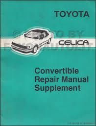 1988 toyota celica repair shop manual original