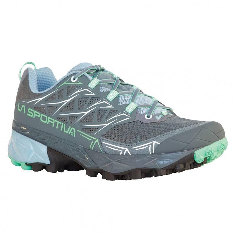 La Sportiva Akyra Trail Running Shoe Slate/Jade Green 38 36E-903704-38