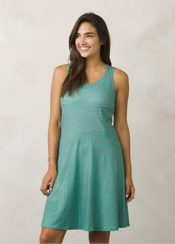 prAna Amelie Dress -Aquamarine Parade-Small