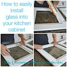 Where To Buy Cheap Kitchen Cabinets How To Add Glass Inserts Into Your Kitchen Cabinets Kitchens