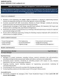 Resume Format For Fresh Civil Engineer   Free Resume Pdf Download