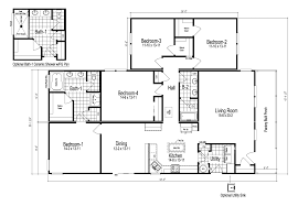 wilmington ii 4 bedroom manufactured home floor plan or modular