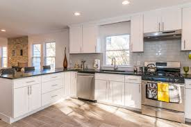 this bright modern kitchen was designed by cabinets direct usa