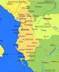 mappa geografica albania
