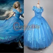 blue halloween costume 2015 newest movie cinderella princess dresses blue deluxe wedding