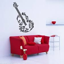 online get cheap guitar bedroom decor aliexpress com alibaba group creative music guitar art wall stickers sitting room bedroom decorative pictures wallpaper art wall sticker home decor decals