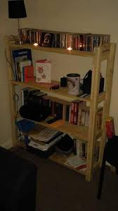 Build Wooden Shelf Unit by Build A Pallet Bookcase Bookshelves
