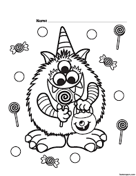 Halloween Preschool Printables Halloween Coloring Page Preschool Olegandreev Me
