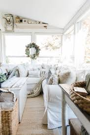 Modern Farmhouse Interior by Cozy Farmhouse Fall Sunroom Sunroom Fall Decor And Farmhouse Style