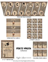 Vintage Halloween Printables by Free Halloween Party Printables From Giggles U0026 Grace Designs