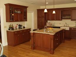 cherry cabinets kitchen amber cherry mitred raised kitchen for