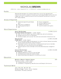 Curriculum Vitae Resume Template Curriculum Vitae Cv Examples And Writing Tips Recentresumes Com