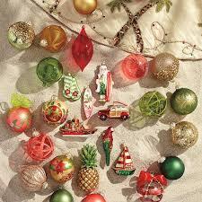 60 pc caribbean tidings ornament collection frontgate coastal