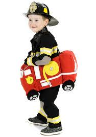Halloween Costumes Firefighter Ride Fire Truck Costume