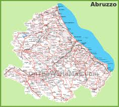 Italy Region Map by Large Detailed Map Of Abruzzo With Cities And Towns
