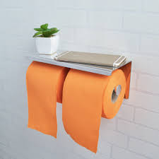sus 304 stainless steel double roll toilet paper holder storage