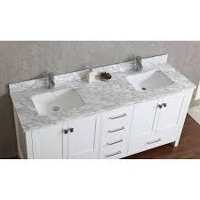 Bathroom Vanity Double by Buy Vincent 72 Inch Solid Wood Double Bathroom Vanity In White Hm