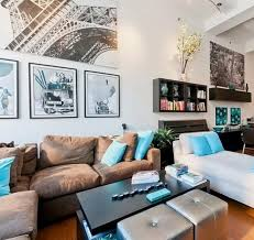 Turquoise And Green Lounge Room Ideas Living Room Ideas Brown Sofa Apartment Modern Brown Living Room