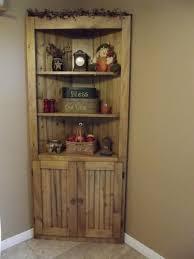 Corner Living Room Cabinet by Make A Corner Useful Rustic Country Wood Pine Corner Cupboard Diy