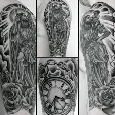 Tattoo Designs Half Sleeve Ideas 40 St Christopher Tattoo Designs For Men Manly Ink Ideas