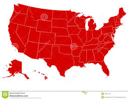States Of United States Map by Map Of United States Of America Red Royalty Free Stock Image