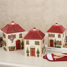 Kitchen Canisters Red Red Canister Set For Kitchen X021 Set 3 Red Kitchen Food Storage