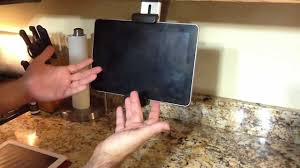 Kitchen Tv Under Cabinet by Review Of Belkin Tablet Kitchen Mount For The Ipad 2 Kindle Fire