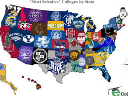 Stanford Shopping Center Map The Most Selective College In Each State Map Business Insider