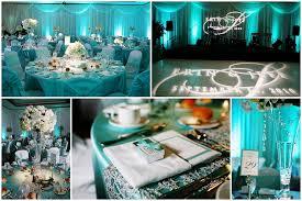 unique wedding reception inspiration tiffany blue stylish