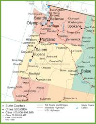 Map Of Washington Cities by Map Of Oregon And Washington