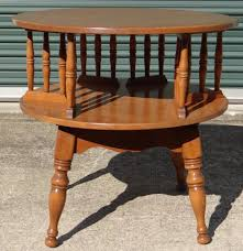 Colonial Dining Room Chairs Baumritter Ethan Allen Rock Maple Rotating Book Shelf Accent