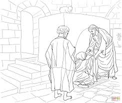 jesus heals canaanite woman u0027s daughter coloring page free