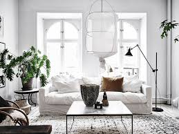 White Furniture For Living Room 5 Scandinavian Living Rooms With A Bohemian Twist The Edit