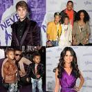 Pictures of Justin Bieber, Selena Gomez, Miley Cyrus, and Usher at