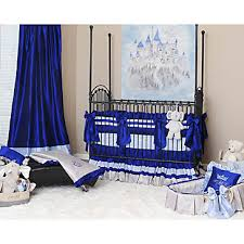 preston royal blue crib bedding set little prince charming