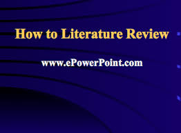 review is a description of the literature relevant to a particular field or topic  This is often written as part of a postgraduate thesis proposal      PowerPoint Online