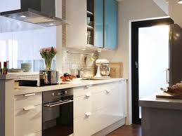 Kitchen Glass Backsplash Ideas Kitchen Design For A Small Kitchen Glass For Cabinet Door Orange
