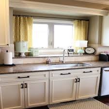 awesome double window treatment ideas with sink 4668 baytownkitchen