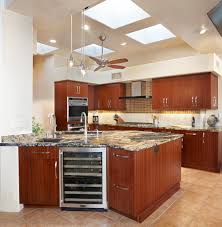kitchen remodels tucson glass tile and travertine contemporary modern ribbon cut stained mahogany cabinetry with volcano granite countertops