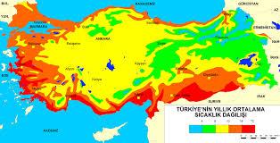 Ülkemizde yıllık sıcaklık farklarının en düşük olduğu bölge