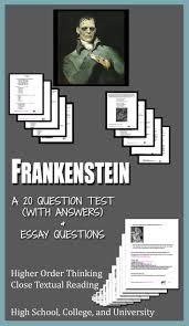 frankenstein literature ela test essay questions entire novel