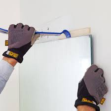 removing glued to wall mirror framing a with molding large