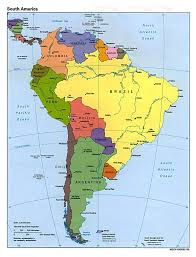 Spain Political Map by Maps Of South America And South American Countries Political